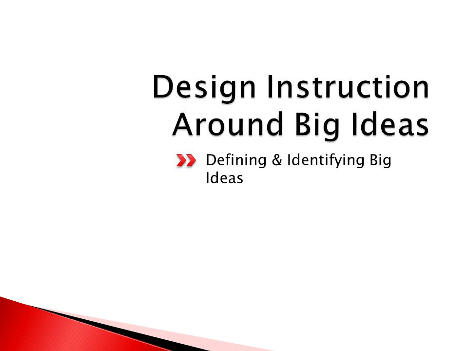 Defining & Identifying Big Ideas