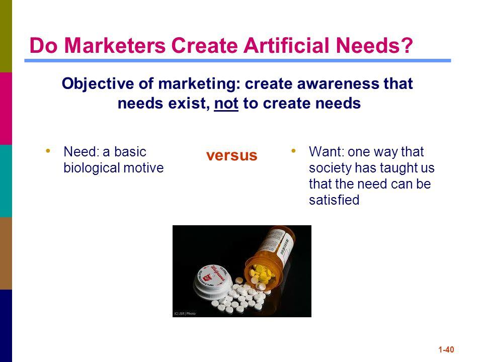 1-40 Do Marketers Create Artificial Needs.