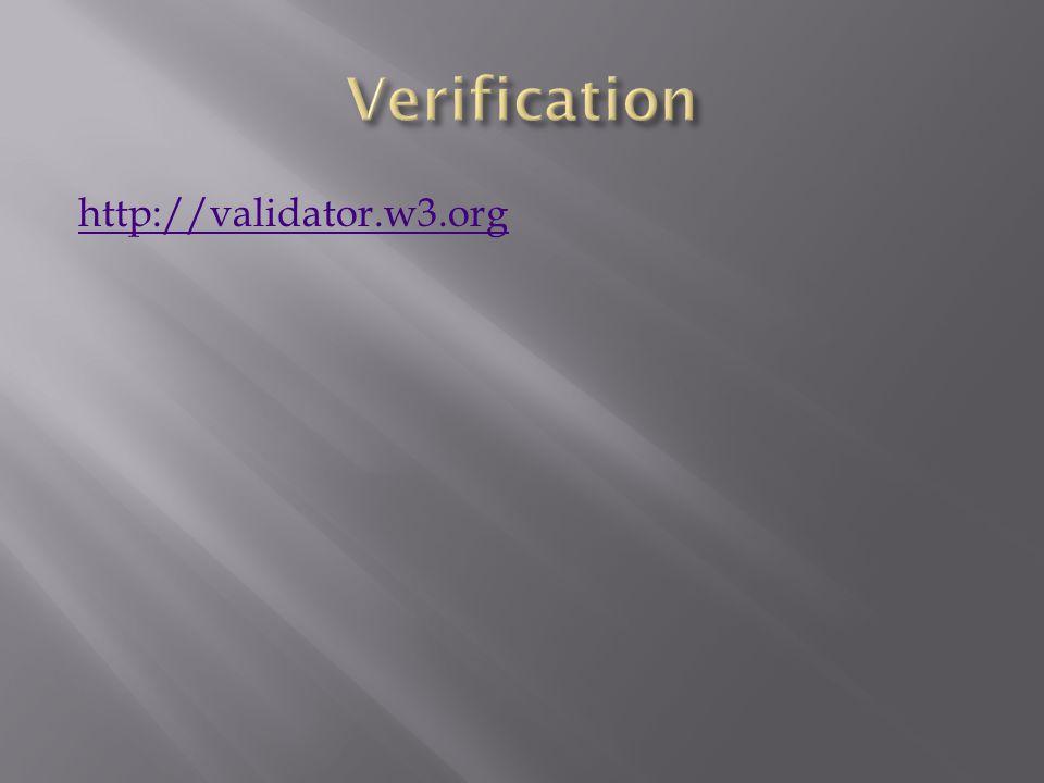 http://validator.w3.org