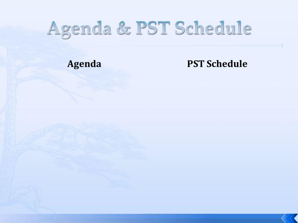 AgendaPST Schedule