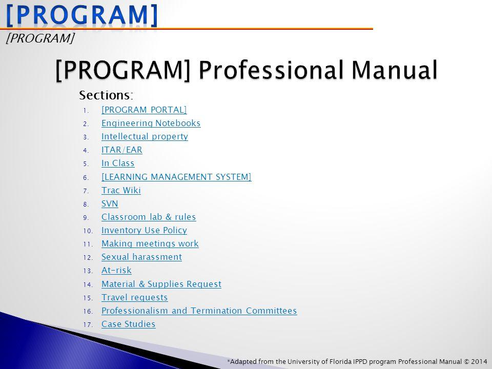 1. [PROGRAM PORTAL] [PROGRAM PORTAL] 2. Engineering Notebooks Engineering Notebooks 3.