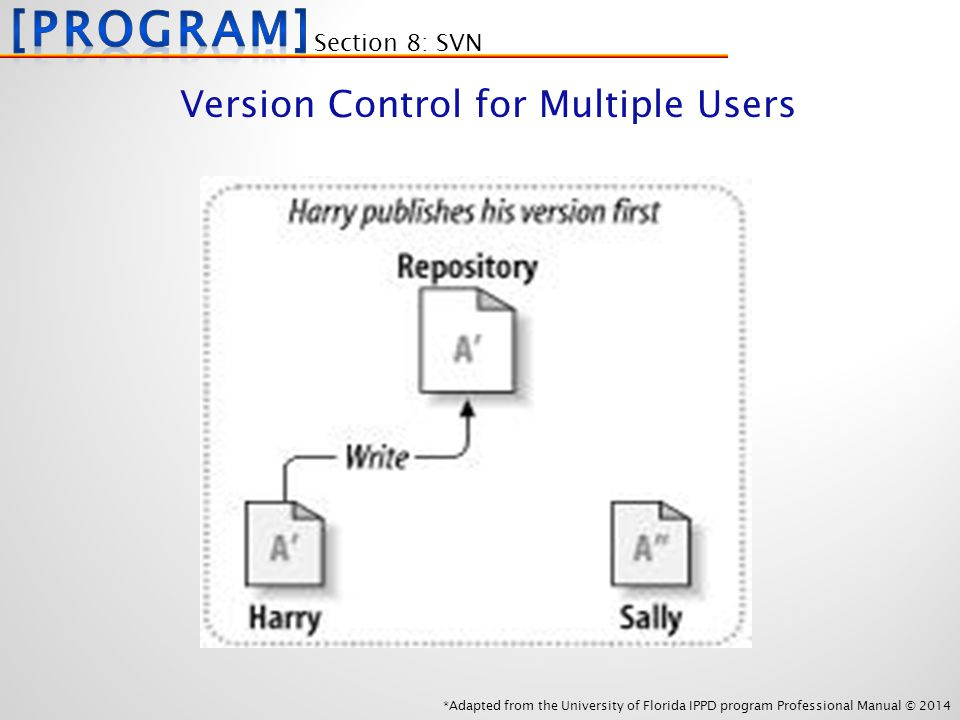 *Adapted from the University of Florida IPPD program Professional Manual © 2014 Section 8: SVN