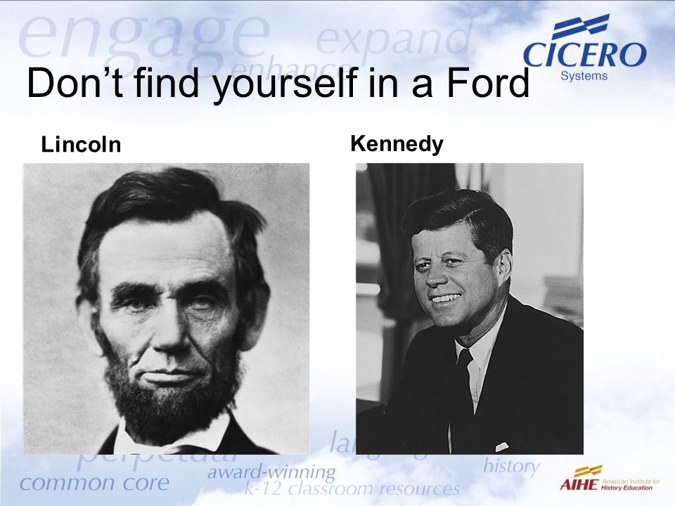 Don't find yourself in a Ford Lincoln Kennedy