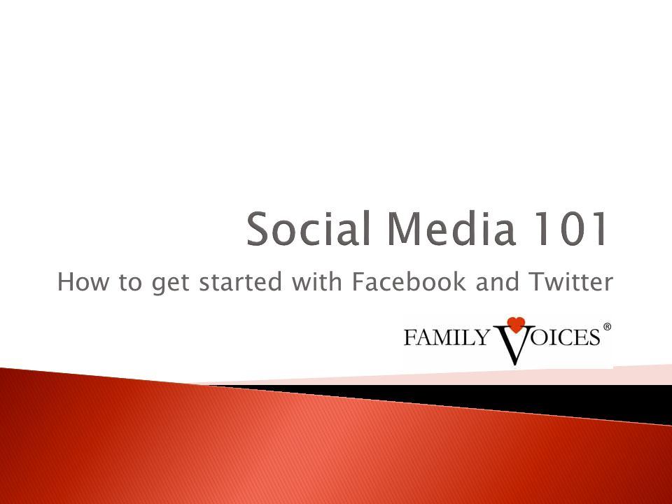 How to get started with Facebook and Twitter