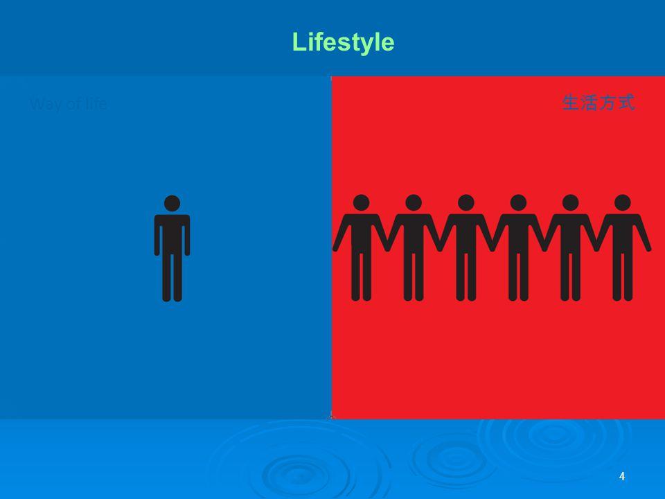 4 Way of life 生活方式 Lifestyle