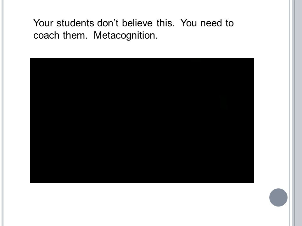 Your students don't believe this. You need to coach them. Metacognition.