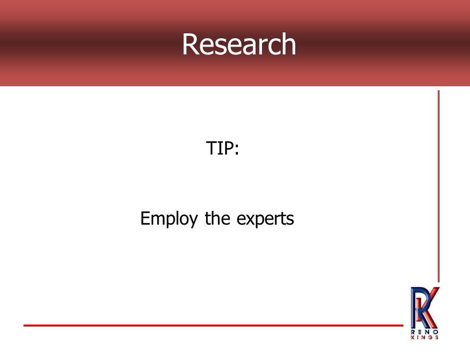 Research TIP: Employ the experts
