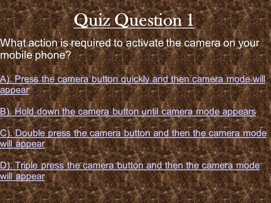 Quiz Question 4 CORRECT!