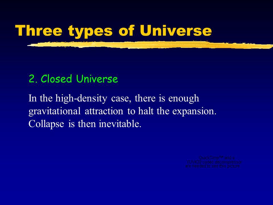 Three types of Universe 2.