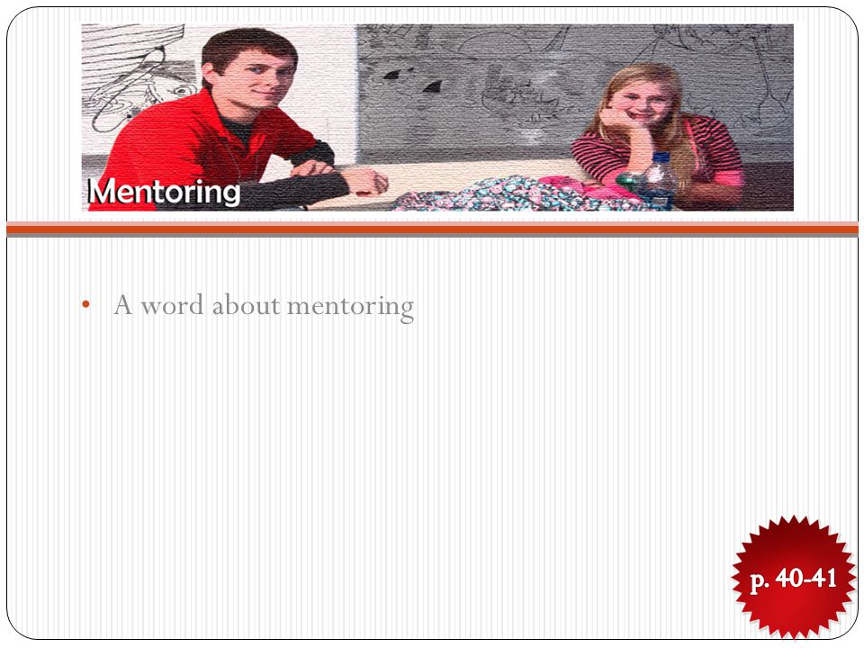 A word about mentoring