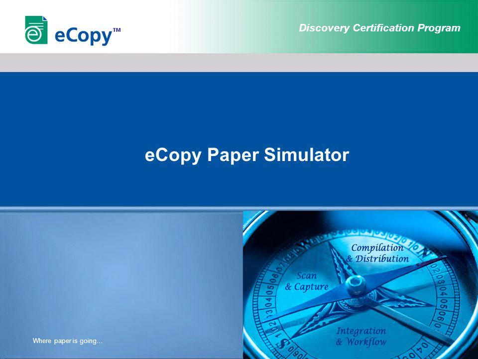 Discovery Certification Program ShareScan Main Screen