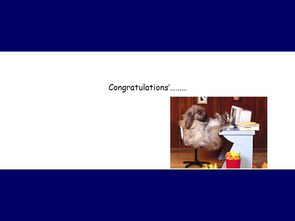 Congratulations'………