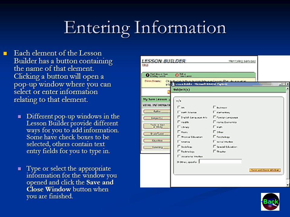 Attaching Files There are many elements of a lesson plan that have an Attachments tab that contains a form for you to upload and attach files to your lesson.