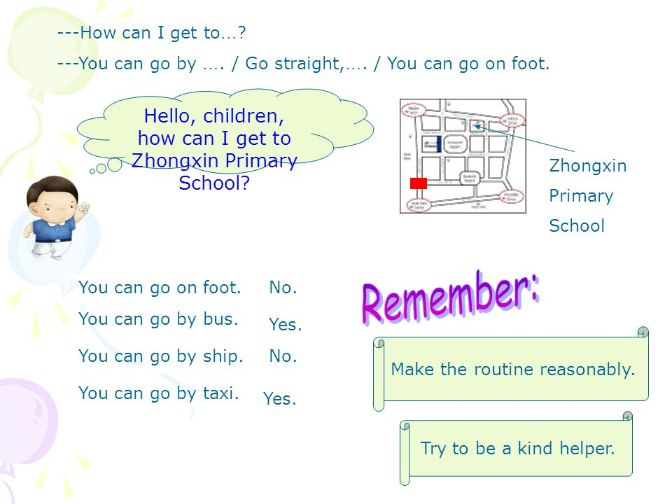 Hello, children, how can I get to Zhongxin Primary School.