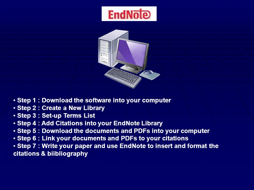 Step 1 : Download the software into your computer From the HPD Library HomePage choose Writing guides & style manuals