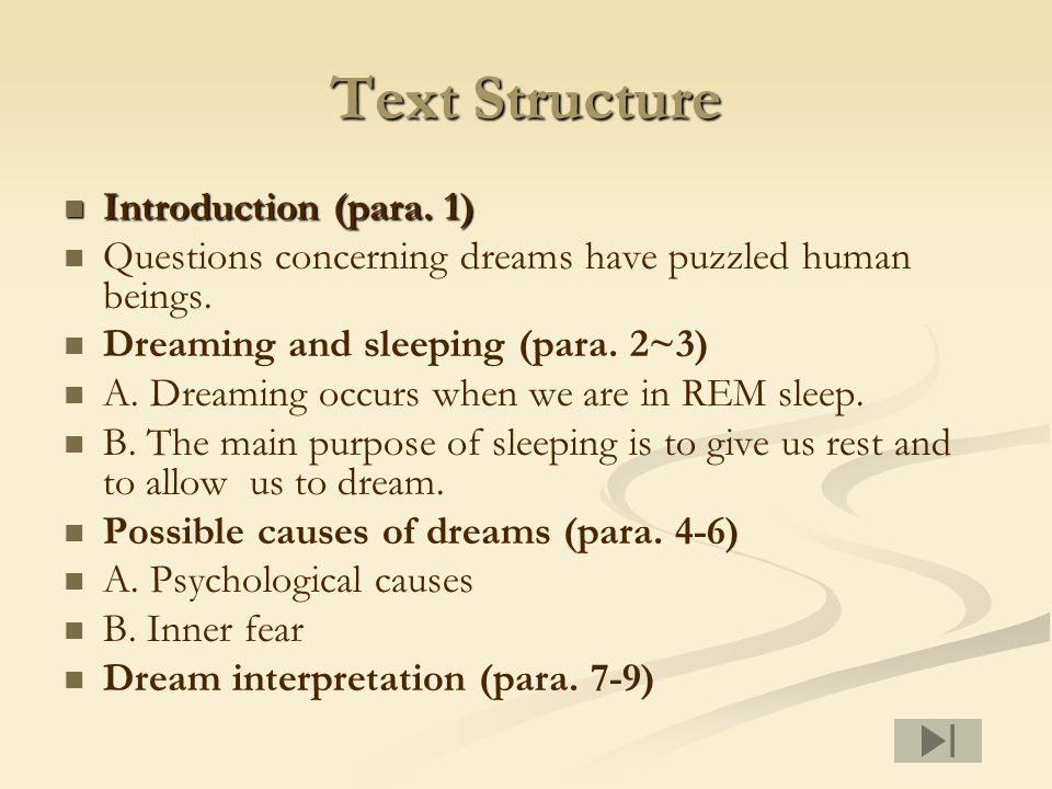 Text Structure Introduction (para. 1) Introduction (para.