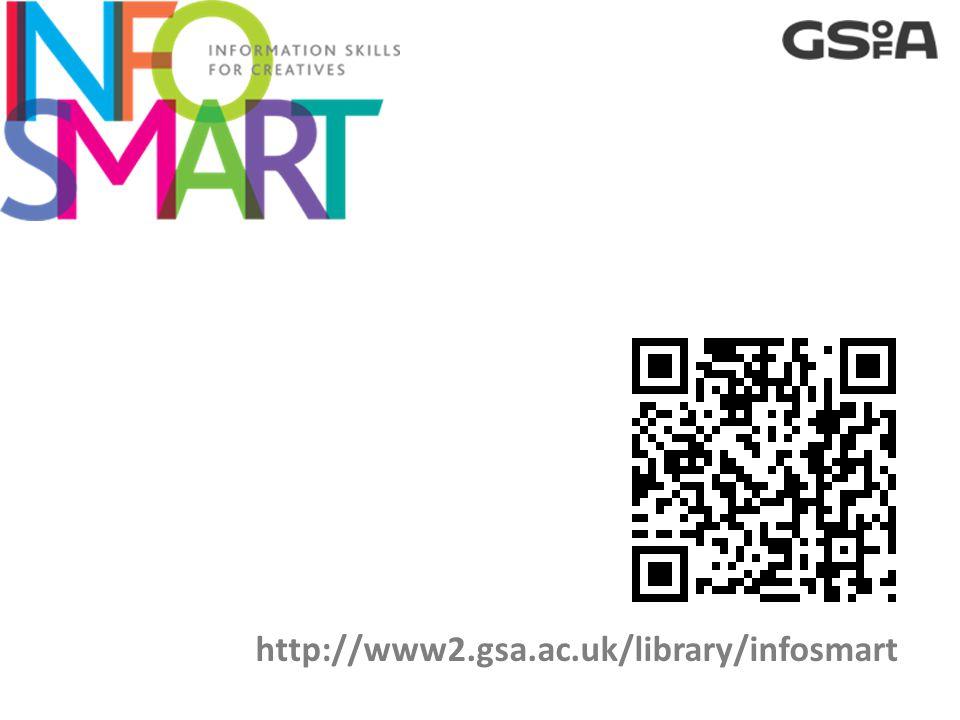 http://www2.gsa.ac.uk/library/infosmart