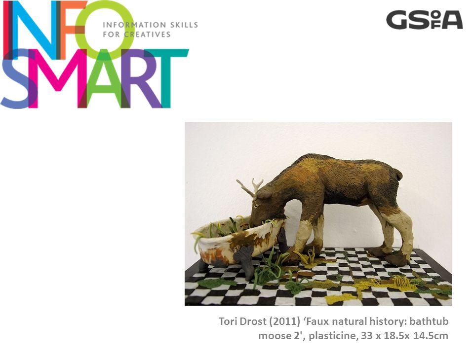 Tori Drost (2011) 'Faux natural history: bathtub moose 2 , plasticine, 33 x 18.5x 14.5cm