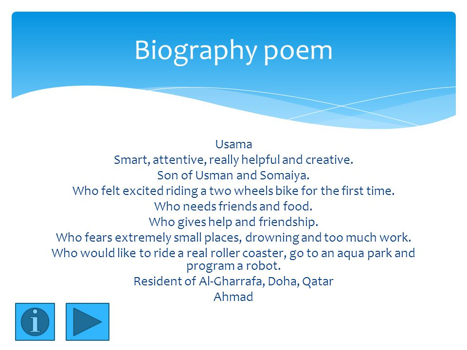 Usama Smart, attentive, really helpful and creative.