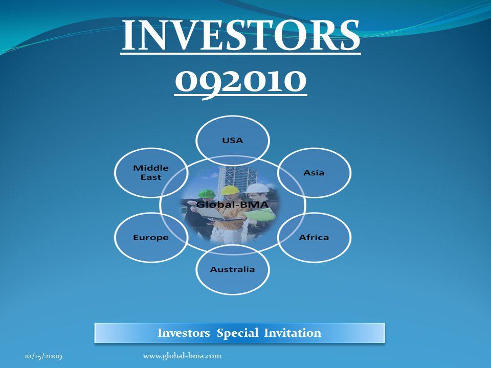 INVESTORS 092010 Investors Special Invitation 10/15/2009www.global-bma.com