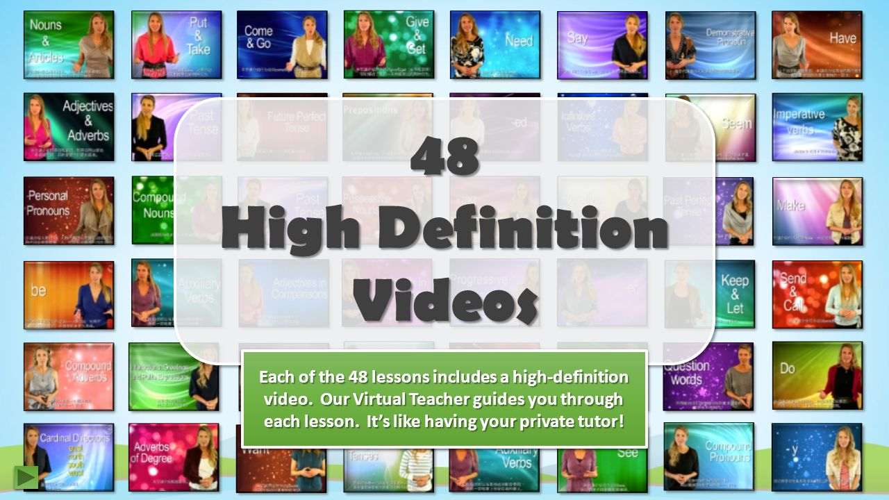 48 High Definition Videos Each of the 48 lessons includes a high-definition video.