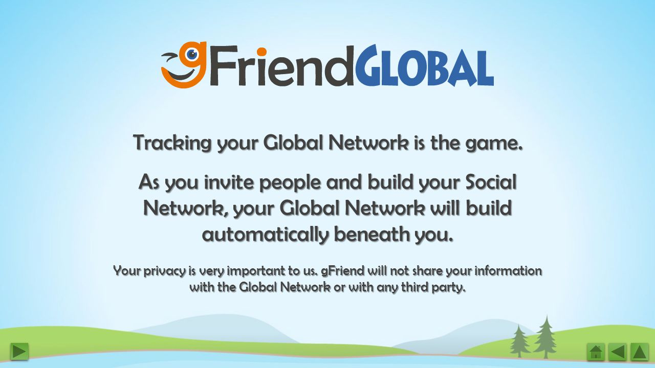 Tracking your Global Network is the game.