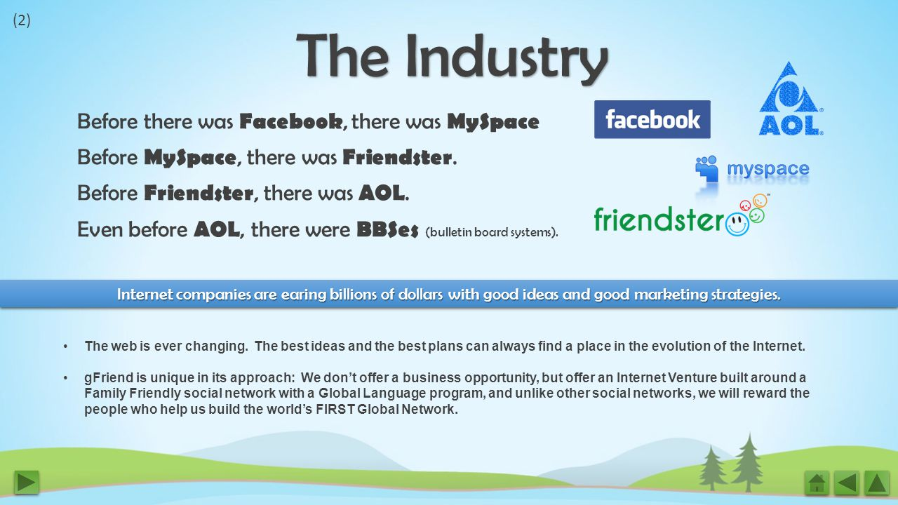 Before there was Facebook, there was MySpace Before MySpace, there was Friendster.