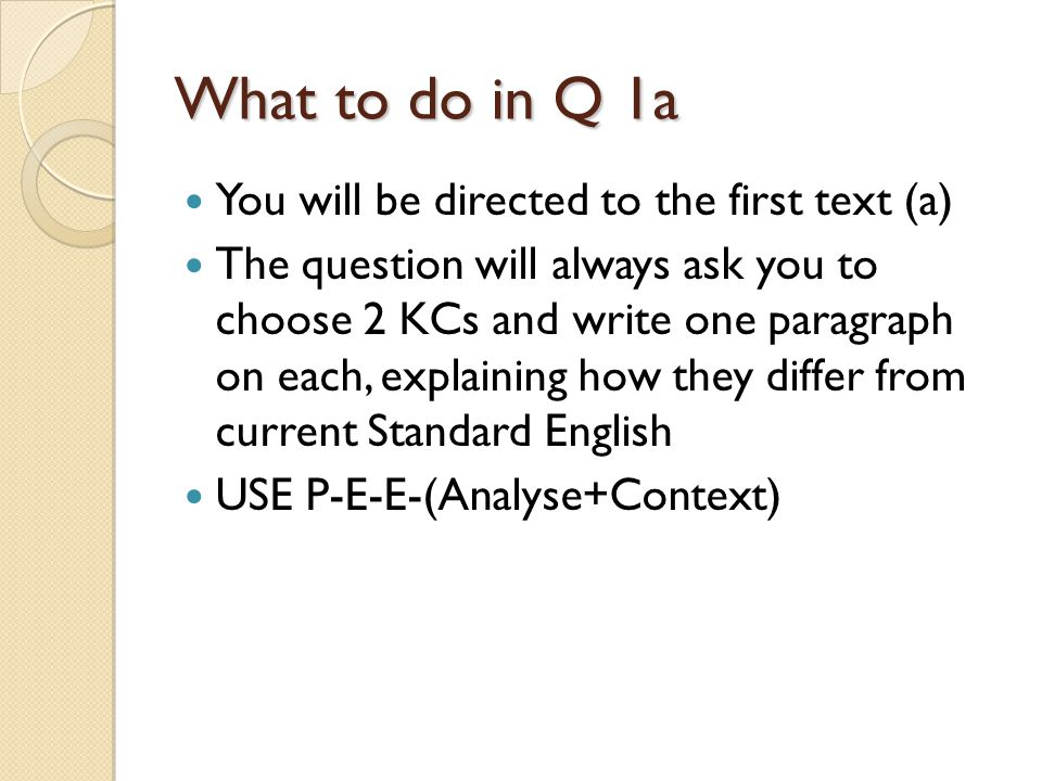 Example of q1a Select two examples which represent different key constituents of language.