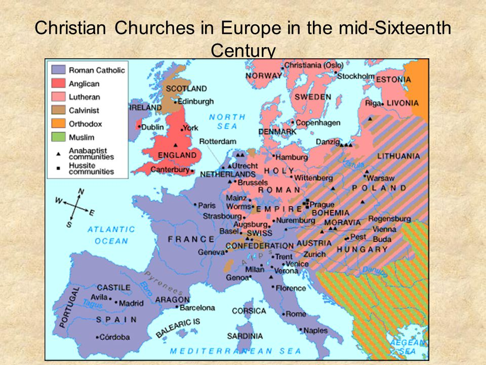 Christian Churches in Europe in the mid-Sixteenth Century