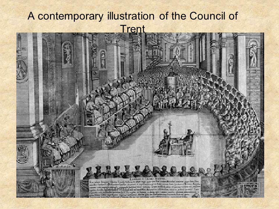 A contemporary illustration of the Council of Trent