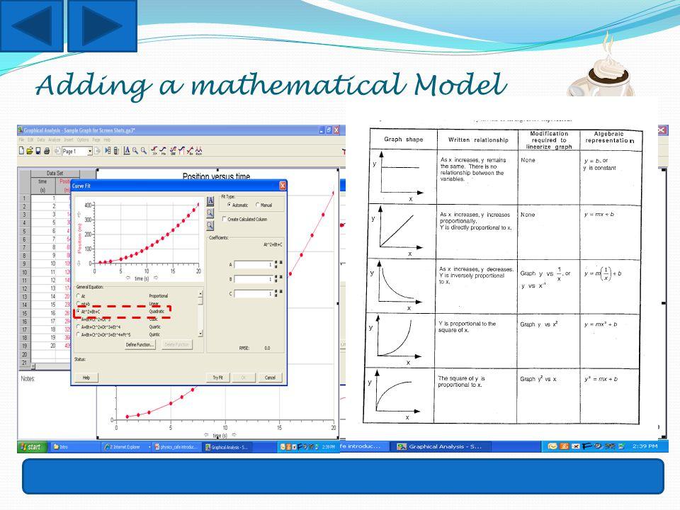 Adding a mathematical Model
