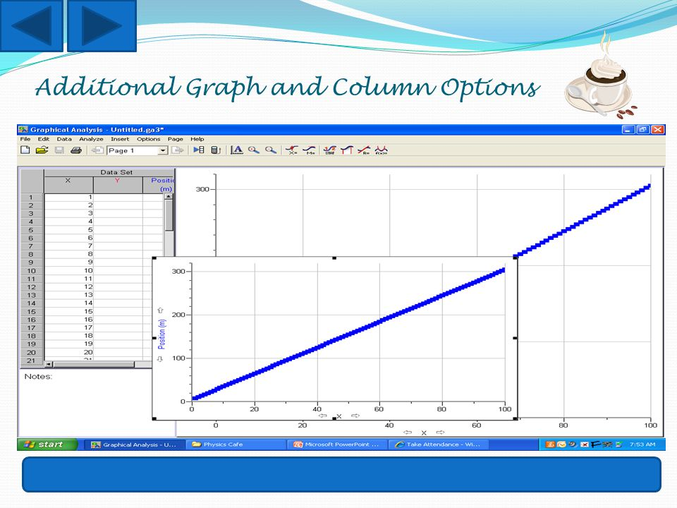 Additional Graph and Column Options