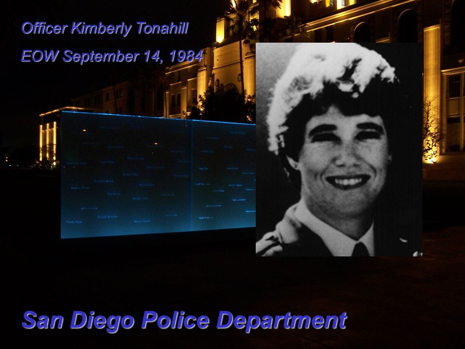 Officer Kimberly Tonahill EOW September 14, 1984 San Diego Police Department