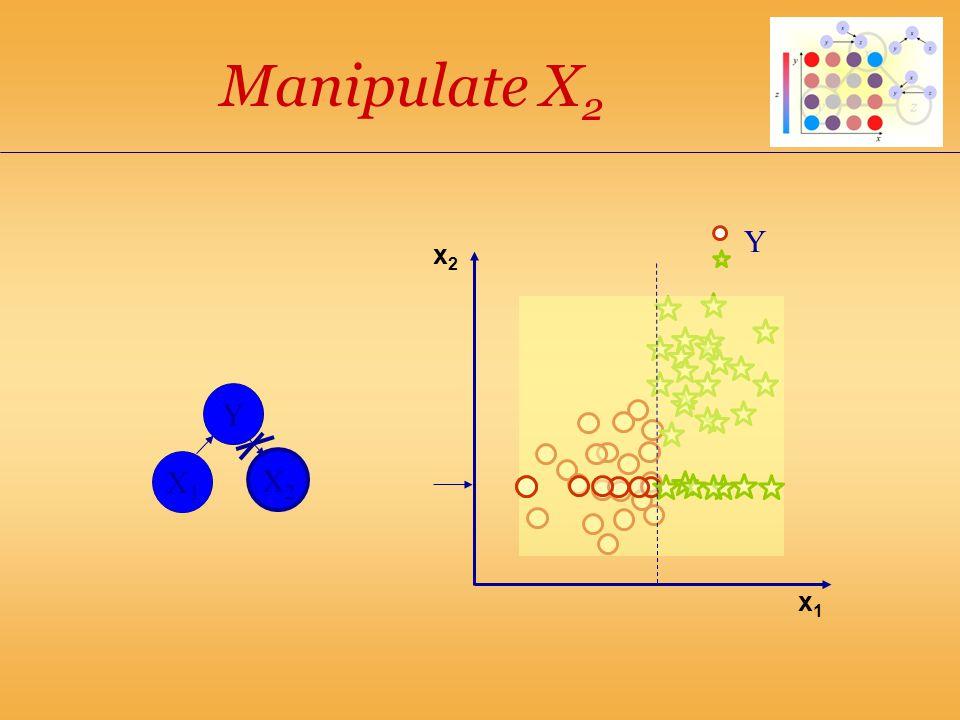 x1x1 Y X1X1 X2X2 Y x2x2 Manipulate X 2