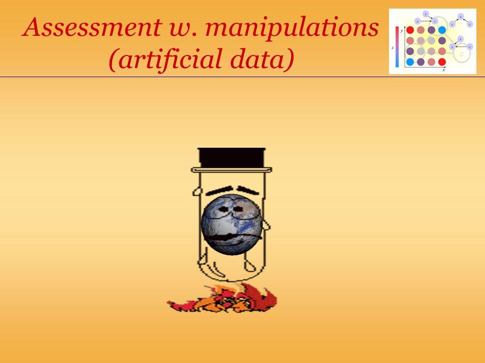Assessment w. manipulations (artificial data)