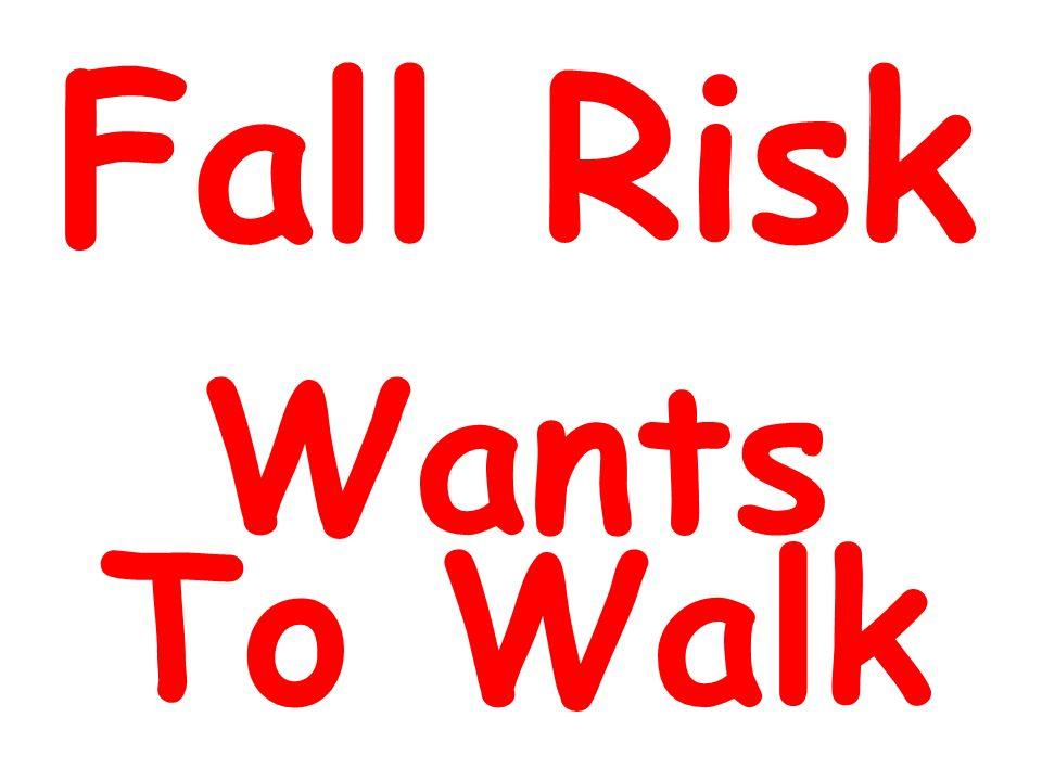 Fall Risk Wants To Walk