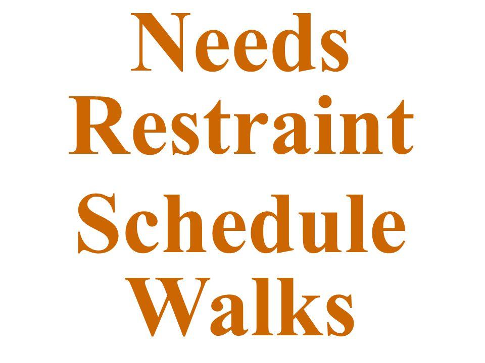 Needs Restraint Schedule Walks