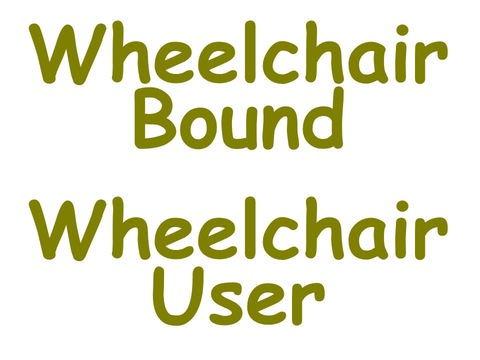 Wheelchair Bound Wheelchair User