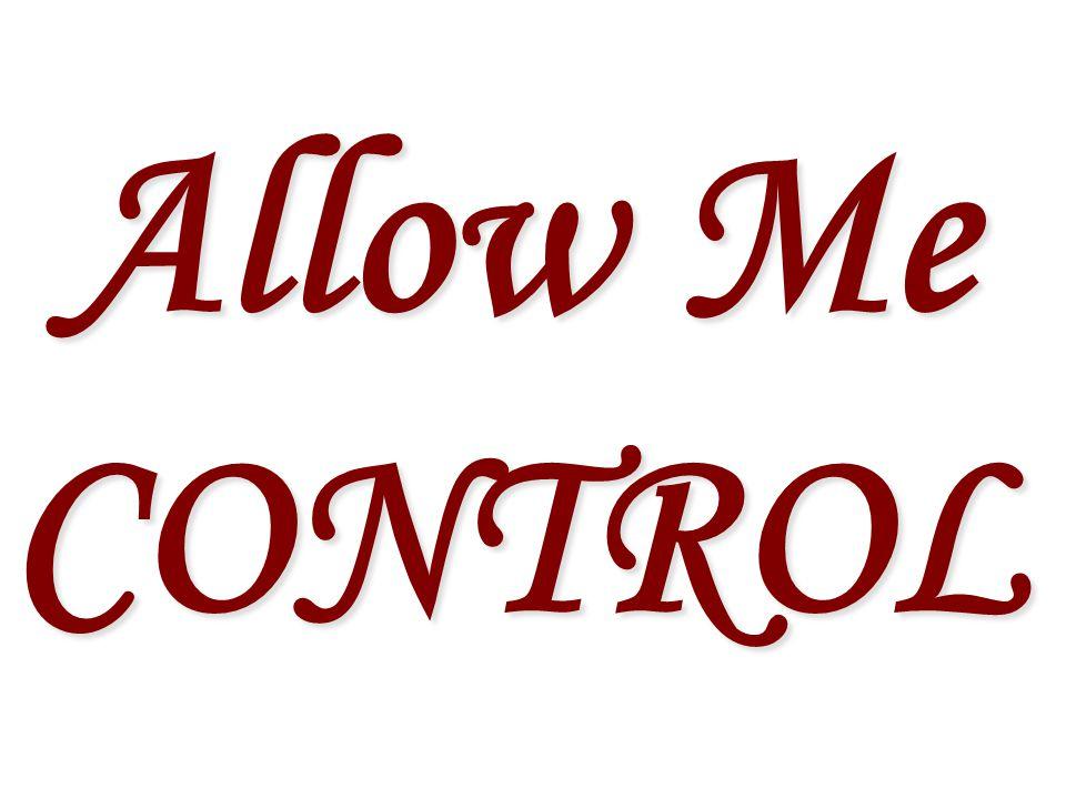 Allow Me CONTROL