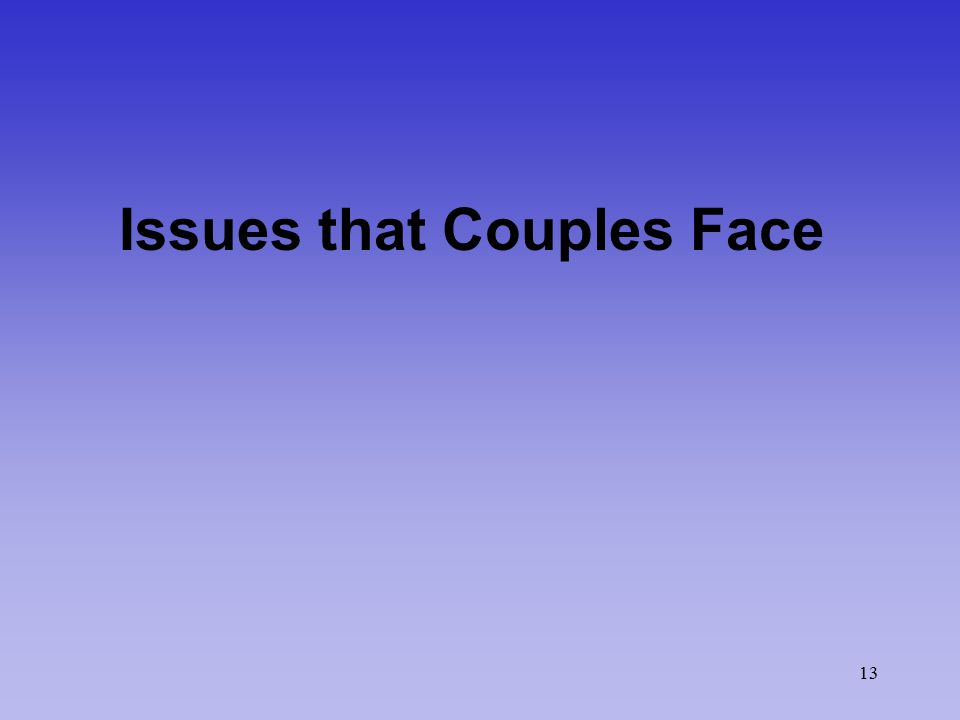13 Issues that Couples Face