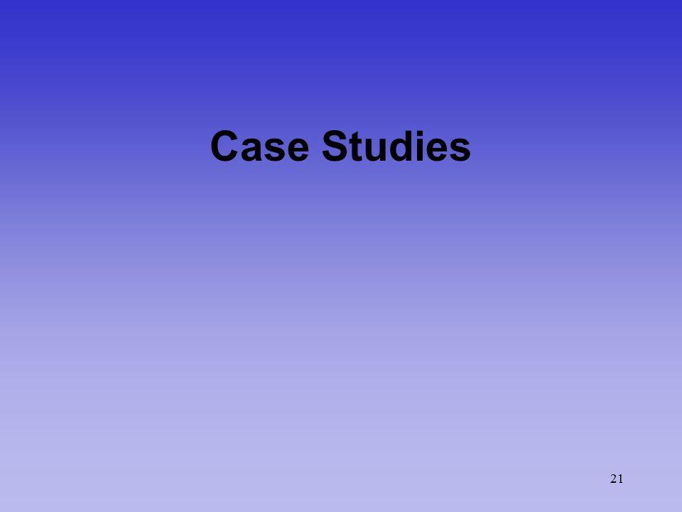 21 Case Studies