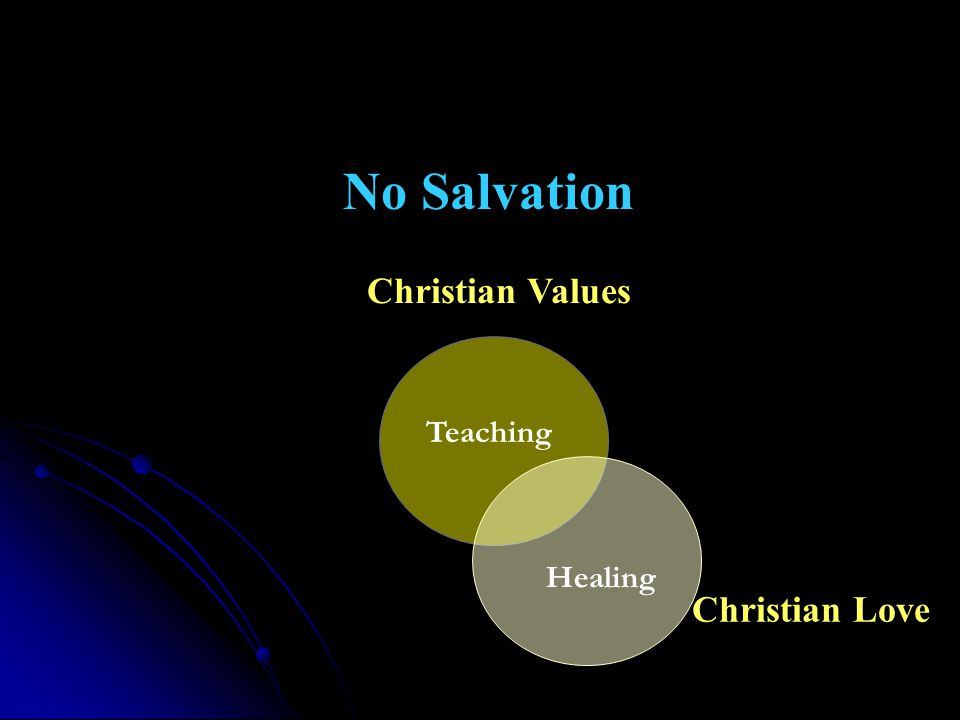 Christian Values Christian Love Healing Teaching No Salvation