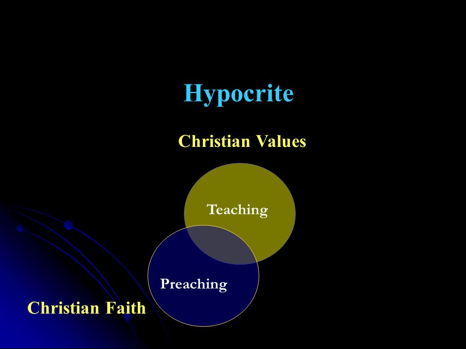 Christian Faith Christian Values Preaching Teaching Hypocrite