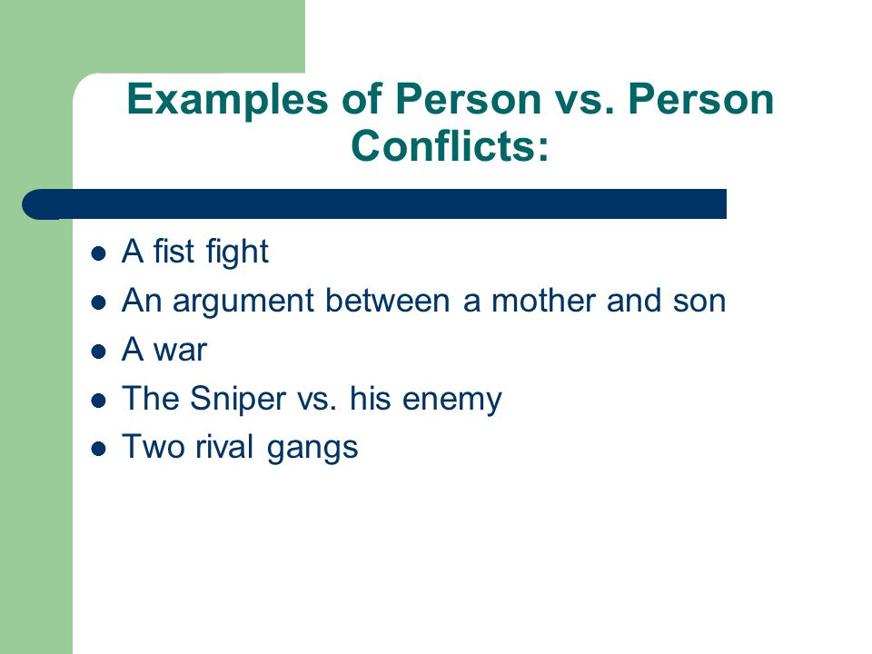Examples of Person vs.