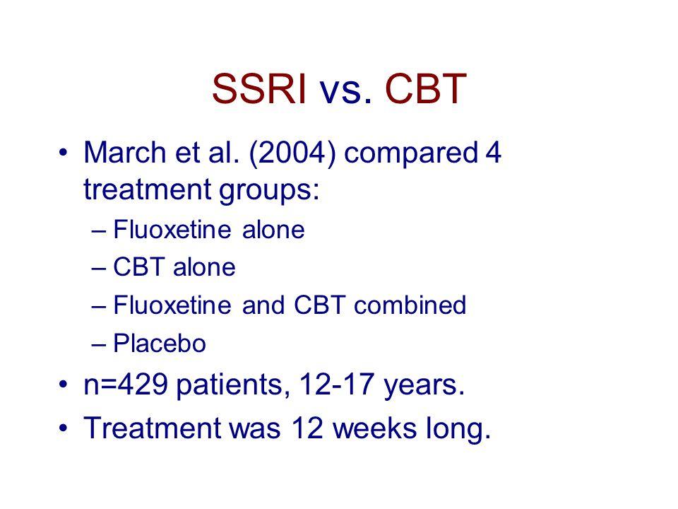 SSRI vs. CBT March et al.