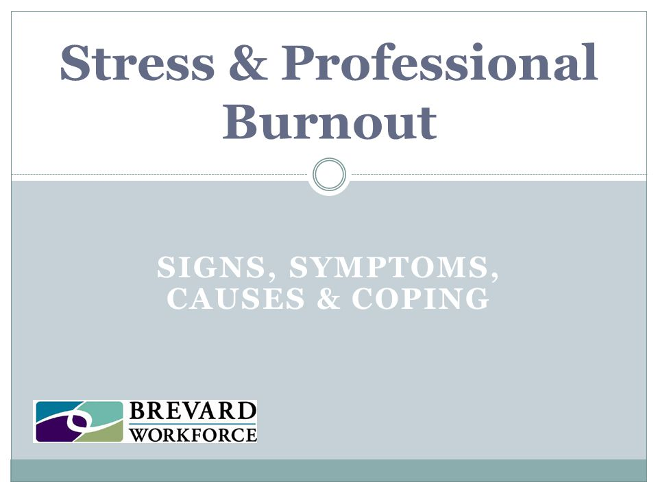 Work related causes of burnout Feeling like you have little or no control over your work.