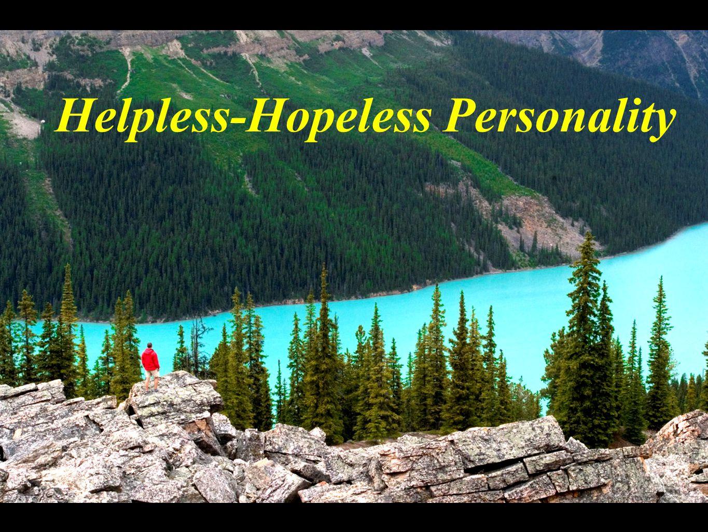 Helpless-Hopeless Personality