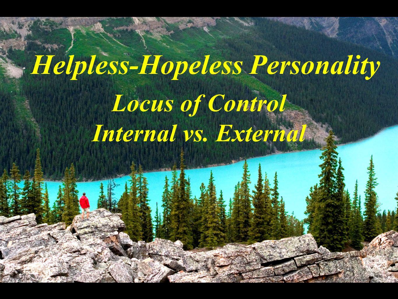 Locus of Control Internal vs. External