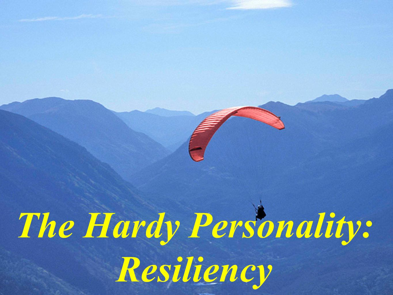 The Hardy Personality: Resiliency
