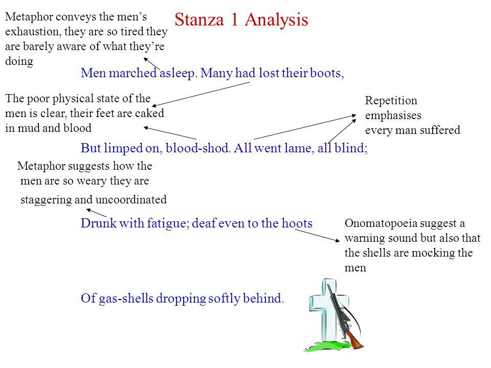 Stanza 2 Analysis Gas.Gas. Quick, boys.